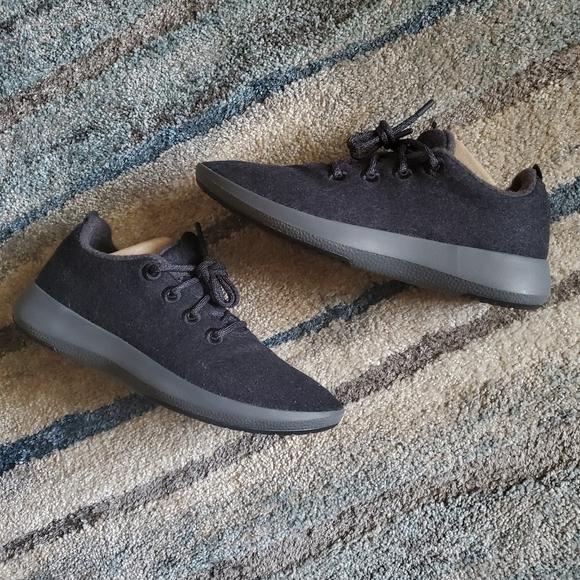 Allbirds Wool Runners Men's Sz 12 Natural Black On Black Merino Sneakers